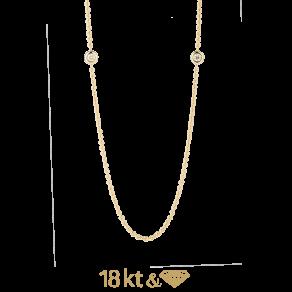 Якорная цепочка с бриллиантами