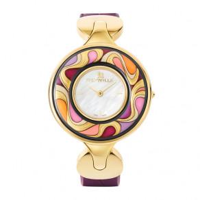 """Часы """"Елена"""" / Ремешок из кожи алигатора - фиолетовый"""